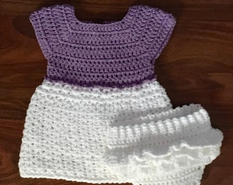 crochted dress with bloomers