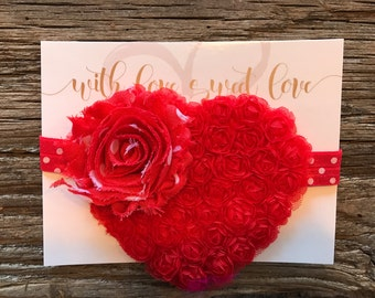 Valentine's Day Heart & Flower Headband