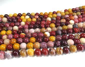 "8mm Mookaite Jasper Beads Polished Round Natural Gemstone Loose 15.5"" Full Strand"
