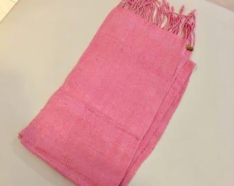 Soft Pink Silk Thai Scarf
