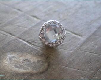 Crystal Silver Bead, European Bracelet Bead