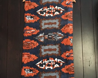 1970's African Cotton Fabric, African Queen! Tanzania