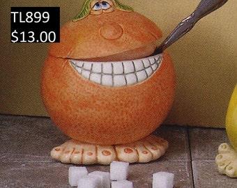 ORANGE - Sugar Bowl/Container