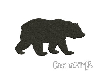 7 Size Bear Silhouette Embroidery design Machine Embroidery - Digital INSTANT DOWNLOAD