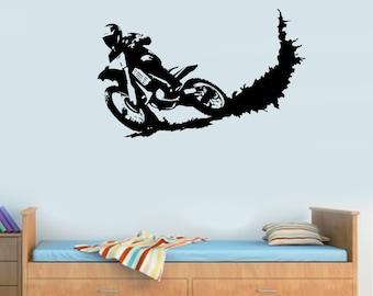 Dirt Bike Motocross Bike Motorbike Boys Wall Stickers Motor Sport Art Decals Part 11