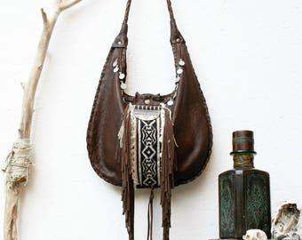 URBAN FOLK bag fringe leather Boho Rock Vintage Style Festival Bohemia Coachella Hippie Tribal Chic