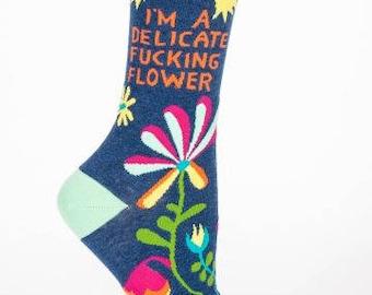 Delicate Flower Sock