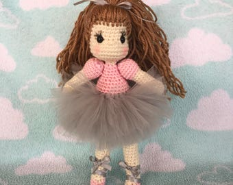 Ballerina doll crohet handmade