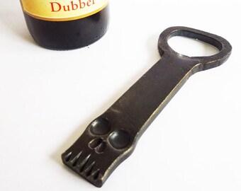 Handmade beer bottle opener SKULL - free worldwide shipping