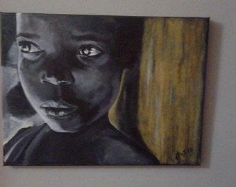 Africa acrylic paint