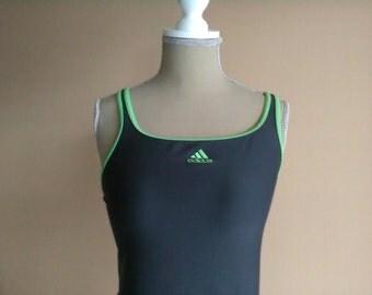 Vintage Adidas 3 Stripe Authentic Infinitex for women / swimsuit one-piece woman three stripes authentic infinitex.