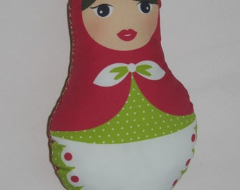 Red matryoshka small cushion