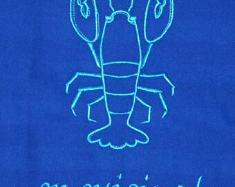 Blue embroidery Trochon lobster