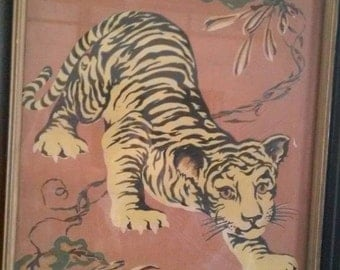 Mid-Century Hemia Tiger Screen Print