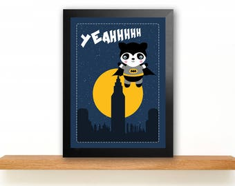 Print illustration prints LITTLE BATMAN in A4
