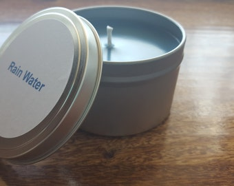Rain Water scented 8 oz soy candle