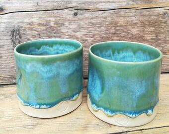 handmade mug set of 2 wheelthrown stoneware coffee or tea mug
