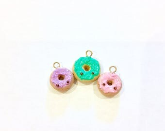Polymer Clay Pastel Doughnuts! (Set Of 3)