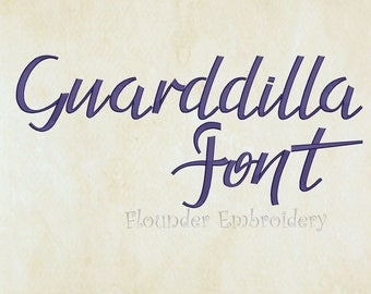 Guarddilla Embroidery Font 4 Size Embroidery Designs Fonts INSTANT DOWNLOAD