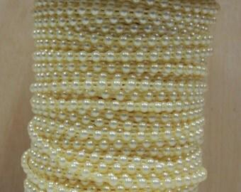 Yellow flatback pearl banding  3.81mm