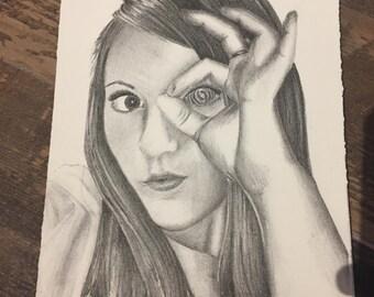 Unique Girl Lithograph LIMITED
