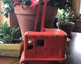 Antique Marx Lumar Steam Shovel Tin Toy Vintage Tin Toy Farmhouse Decor