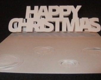 Christmas Tree Easel Shaped Card
