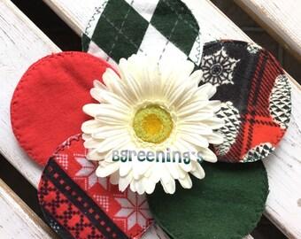 Christmas Themed Pirnts, Cloth Nursing Pads, Reusable, Washable, Environmentally Friendly, Flannel, Cotton Nursing Pads, Breast Feeding, Eco
