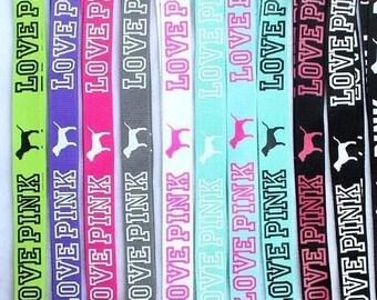 VS Love Pink Lanyards, Love Pink Badge Holder, Multi Colored Lanyards