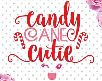 Candy cane cutie svg, cutting file, christmas svg, christmas dxf, DXF, Cricut Design Space, Cut Files, winter svg sayings, sayings svg