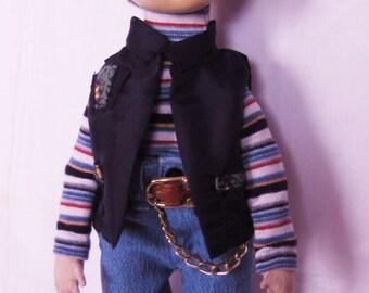 Textile art doll boy