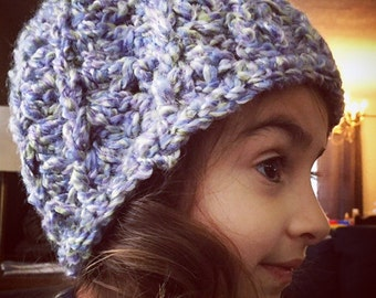 Super soft and plush bulky reversible beanie