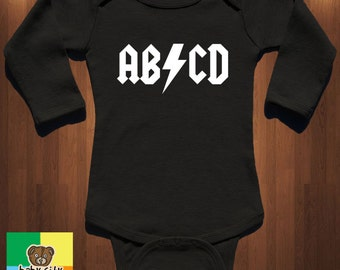 AB CD 0-24M Baby Onesie, funny onesie, coming home outfit, childrens gifts, girl clothing, boy clothing, baby clothing