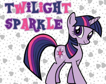 "My Little Pony ""Twilight Sparkle"" and Title SVG Vector File Cricut Explore & More"