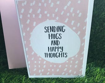 Sending hugs, sending love card, thinking of you card, sympathy cards, sorry for your loss card
