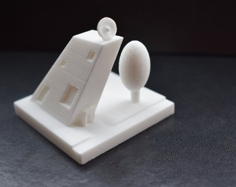Oblique building - 3D Printed