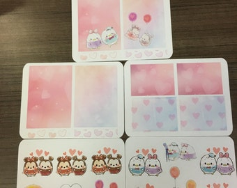 Ufufy Couple Planner stickers- PINK