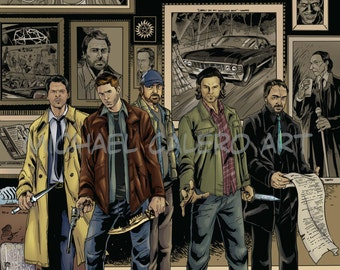 Supernatural ( Sam , Dean , Bobby , Crowley , Castiel , John Winchester  and others )