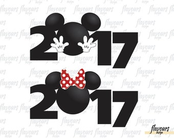 2017 Mickey And Minnie Mouse - Family Vacation - Disney Iron On Transfer - DIY Disney Shirts - INSTANT DOWNLOAD