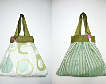 Cloth handbag, boho chic, patterned cotton, gift for her