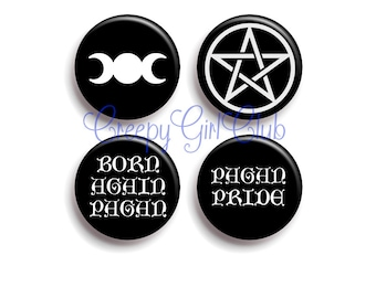 Pagan Pride For Born Again Pagan Goddesses: Pentagram and Triple Moon