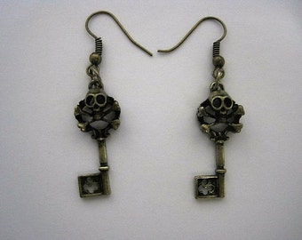 Pirate Key Earrings