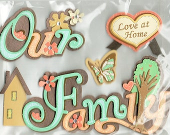Our Family Recollections 3d  Scrapbook Stickers Embellishments Cardmaking Crafts