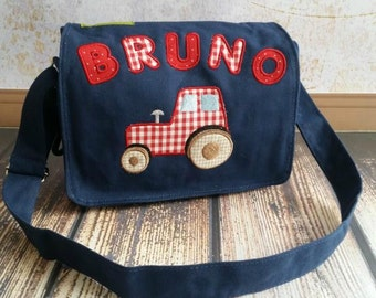 Canvas kindergarten bag tractor of Red Tractor