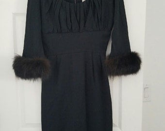 Black Long Sleeve Fur Lined Jack Squire Dress