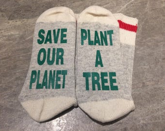 Save Our Planet ... Plant A Tree (Socks)