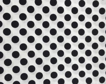 Quilting Fabric Black and White Ta Dot  2 yards available