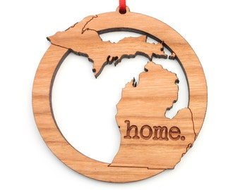 Michigan home. Christmas Ornament - MI Michigan Ornament - Home Christmas Ornament