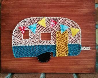 String Art Vintage Camper