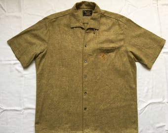 Vintage 50s wool shirt-woollynella Sportsman by Cal-Made-rockabilly-lounge-retro-Lowrider-pachuco-cholo